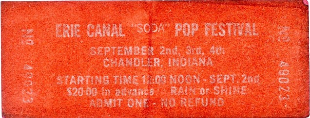 Erie Canal Soda Pop Festival Ticket