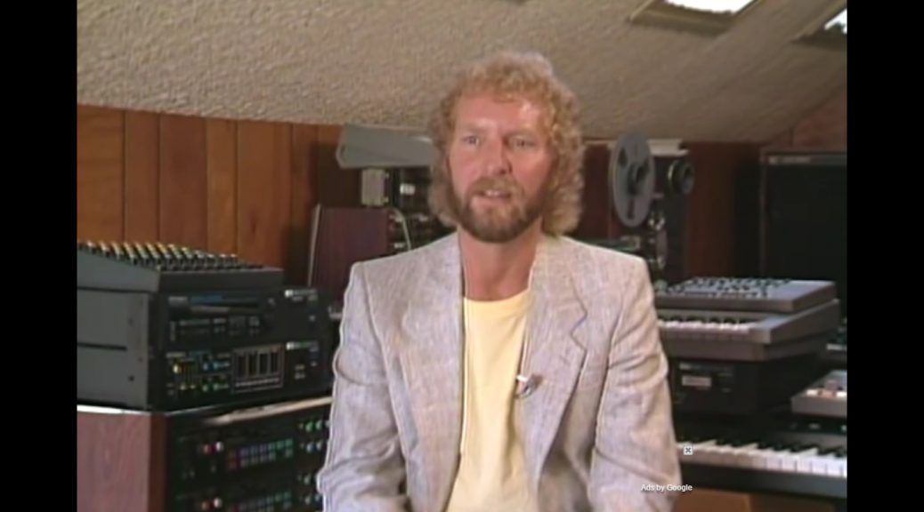 Tom Fogerty in the studio